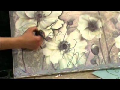 Decoupage tela fiori.wmv