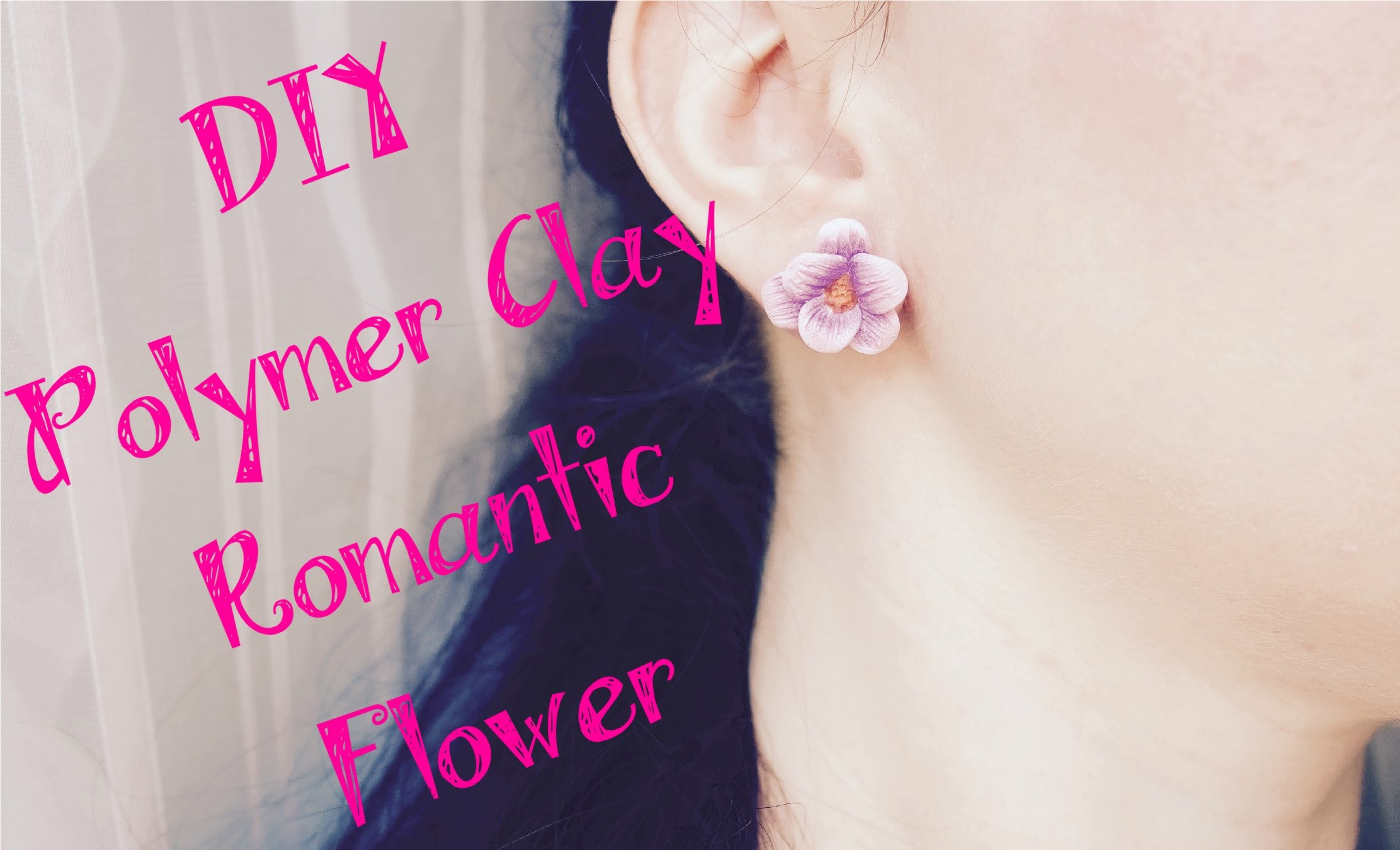 DIY Polymer clay Tutorial Romantic Flower ❀