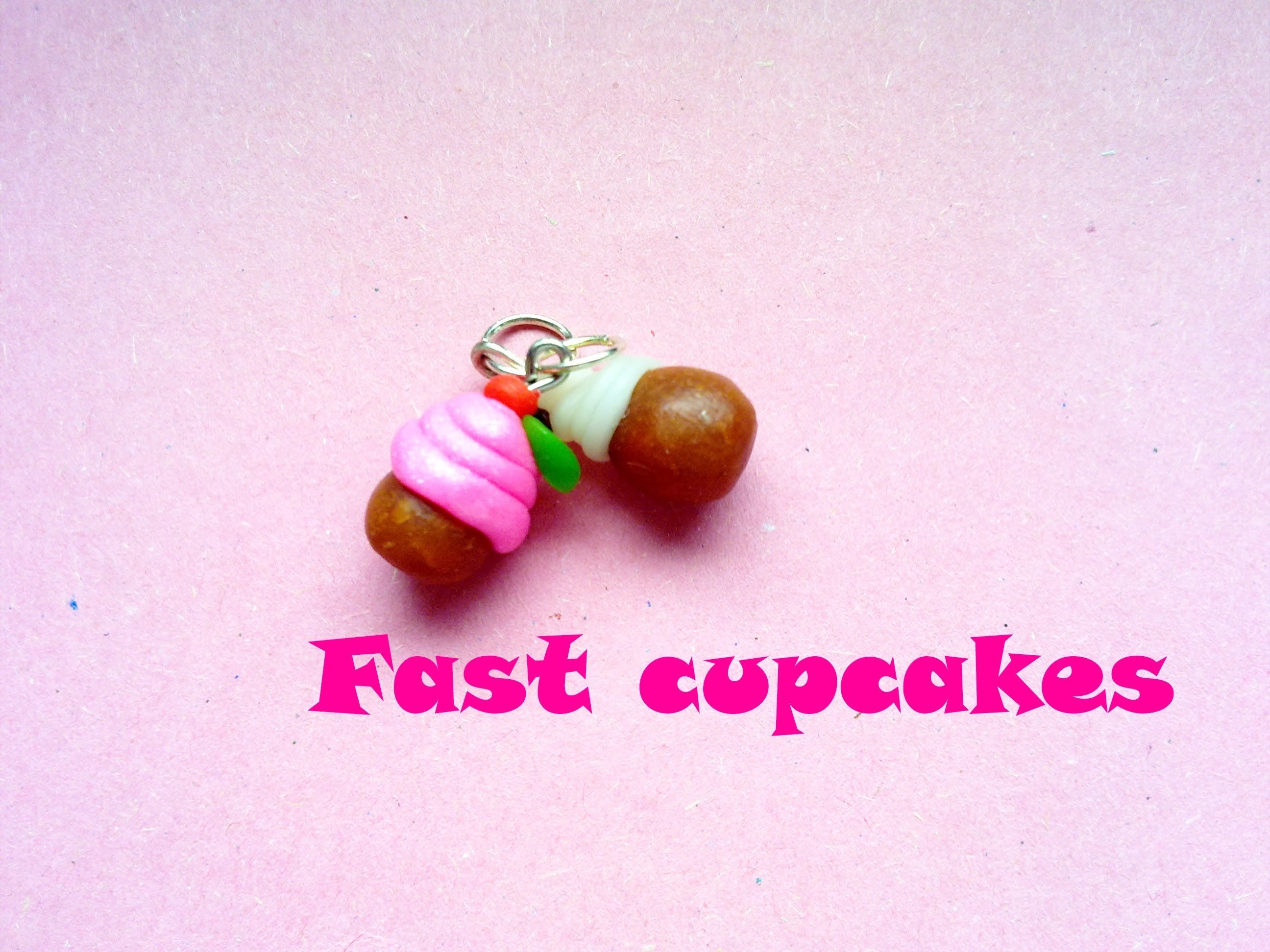 """Fast"" Cupcakes  (Charms)  - Polymer Clay Tutorial -"