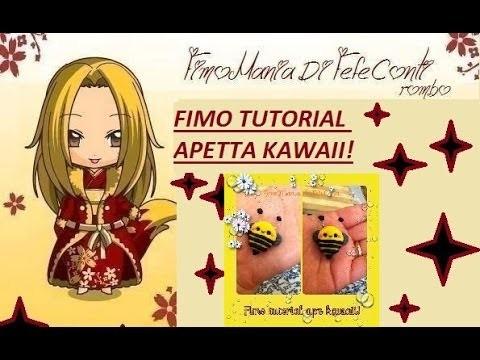 FIMO TUTORIAL APETTA KAWAII! POLYMER CLAY TUTORIAL KAWAII BEE!