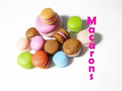 Macarons & Mini Macarons - Polymer Clay Tutorial