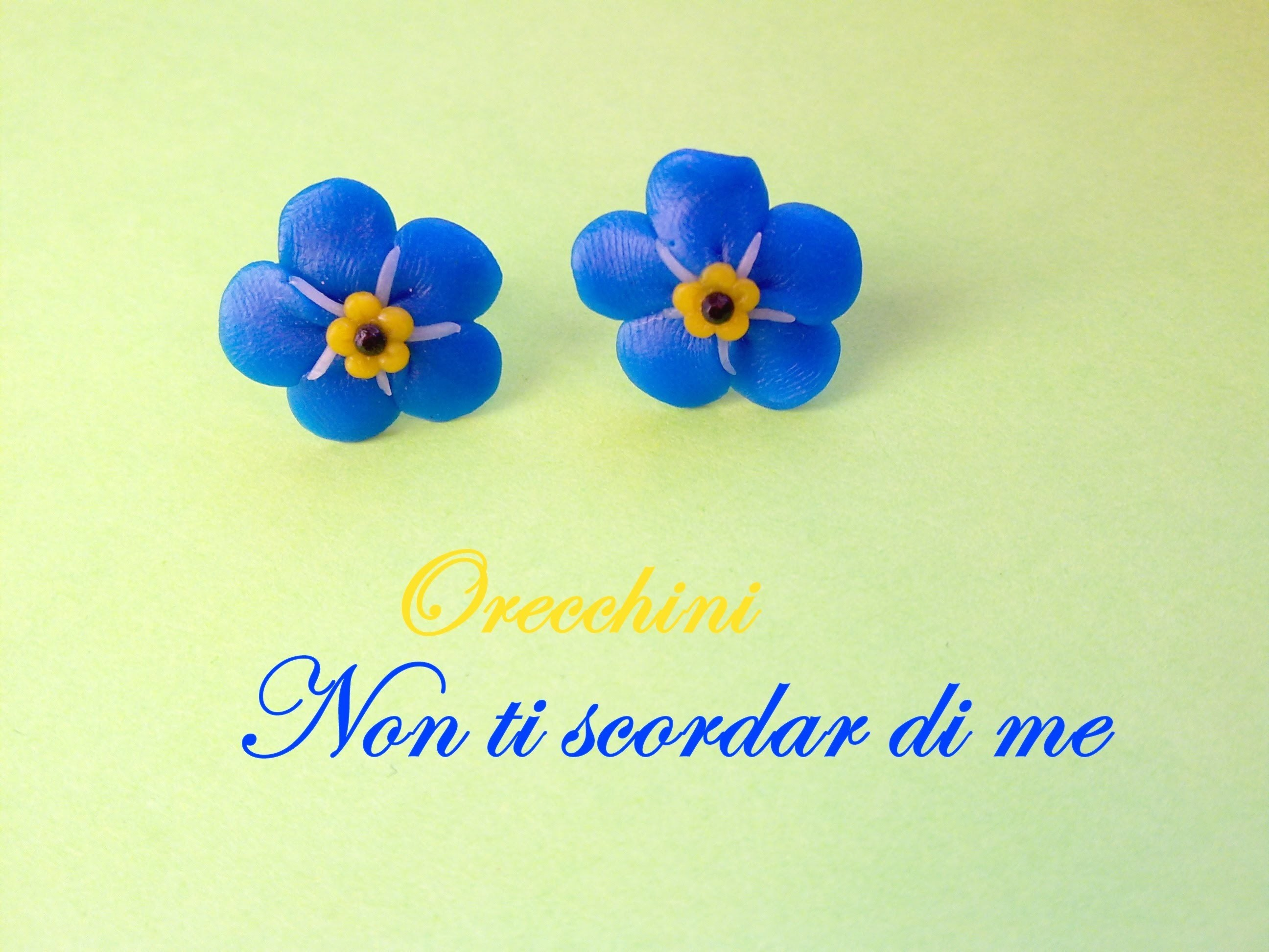 Non Ti Scordar Di Me ❀ Forget Me Not - Polymer Clay Tutorial