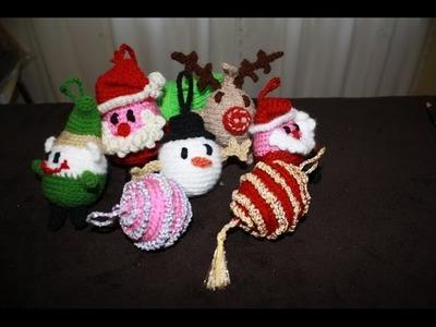 Palline amigurumi   pupazzo di neve