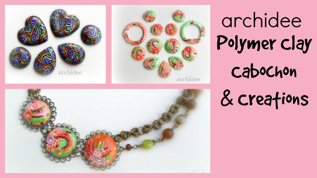 Polymer Clay Cabochons & Creations Update | Components | Necklace | Jennifer Morris inspired