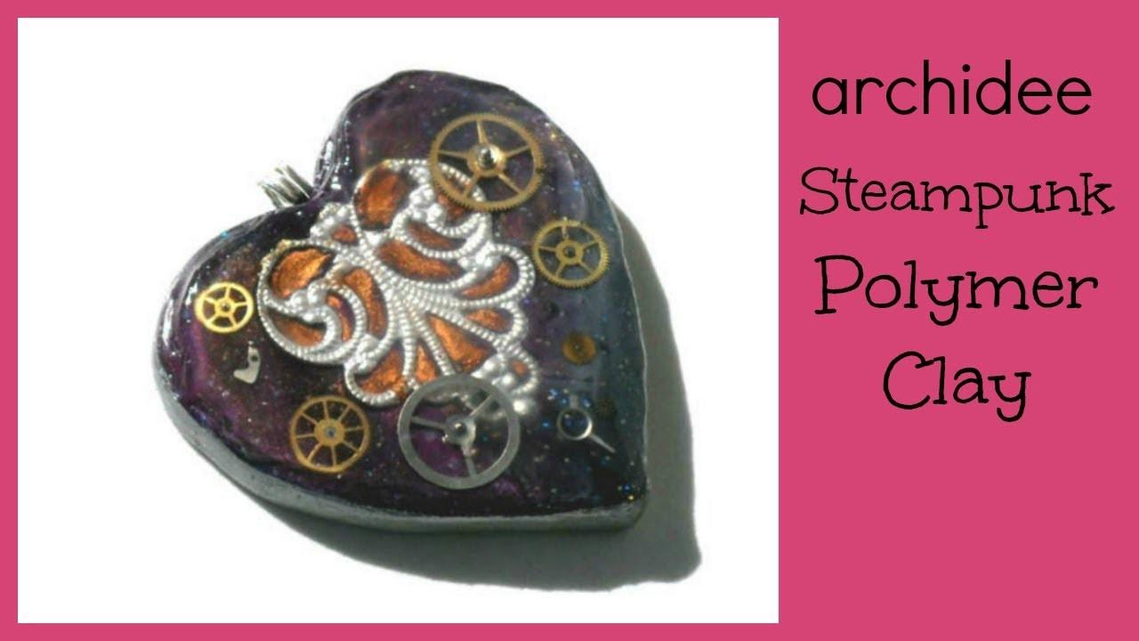 Polymer Clay Tutorial | Steampunk Hearts | Kato Liquid + Embosser | Buon San Valentino!