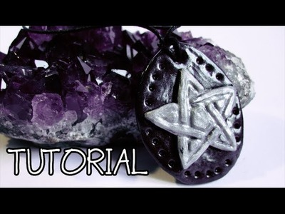 Polymer Clay Tutorial - Wiccan Pentacle | kiarouge