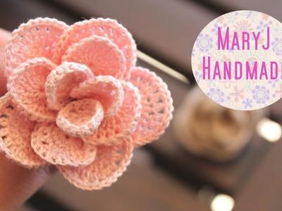 Rosa all'uncinetto | Crochet flower SUB EN