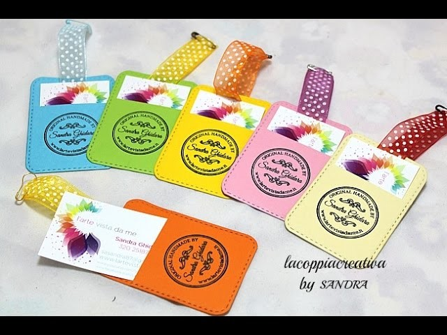 Scrapbooking tutorial:Tag porta biglietti da visita-Business Card Holders tutorial-Fai da te