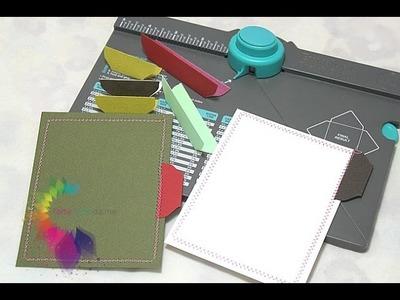 Tab con Envelope Punch Board-Scrapbooking Tutorial-Etichette fai da te