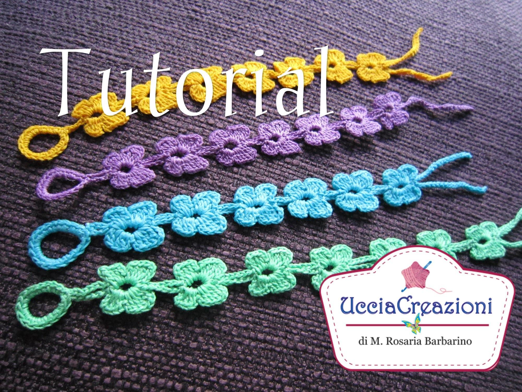 Tutorial 8. * Bracciali Farfalla * Simil - Cruciani . How to Butterfly Crochet Bracelets
