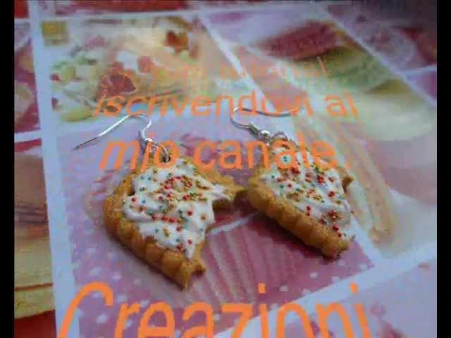Tutorial: biscottini morsicati con effetto cottura e glassa (tutorial polymer clay)