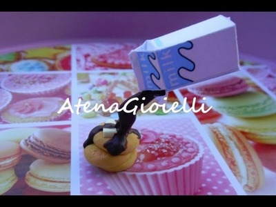 Tutorial latte al cioccolato e pancake (polymer clay tutorial)