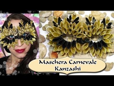 Tutorial Maschera di Carnevale con Kanzashi