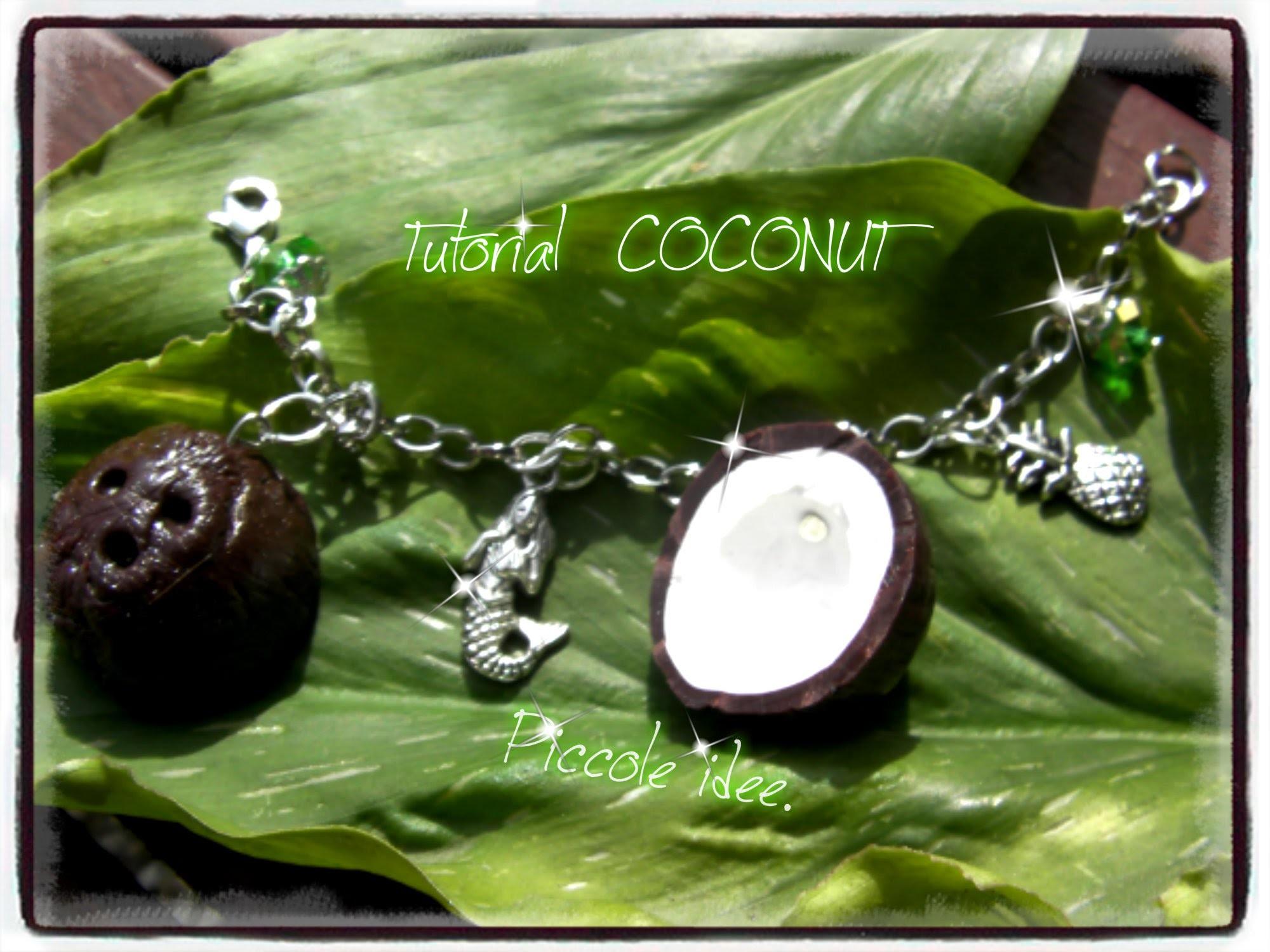 ♡ Tutorial noce di cocco in fimo. Tutorial coconut polymer clay♡