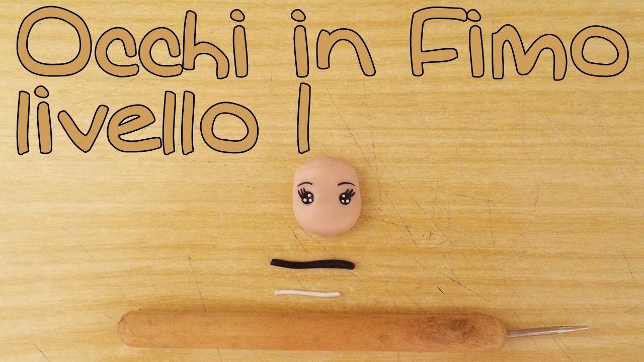 Tutorial Occhi bambole Fimo liv. 1 - Polymer Clay tutorial doll's eyes