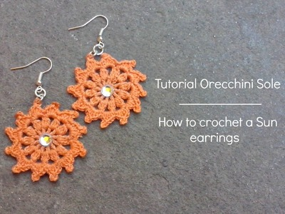 "Tutorial orecchini ""Sole"" 