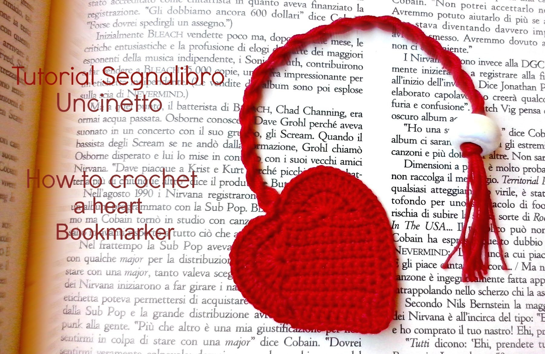 Tutorial segnalibro a Cuore | How to crochet a heart bookmark