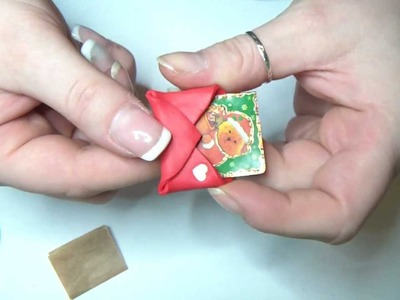 2° Tutorial natalizio - Bustina con biglietto in Fimo. Cernit - Polymer clay