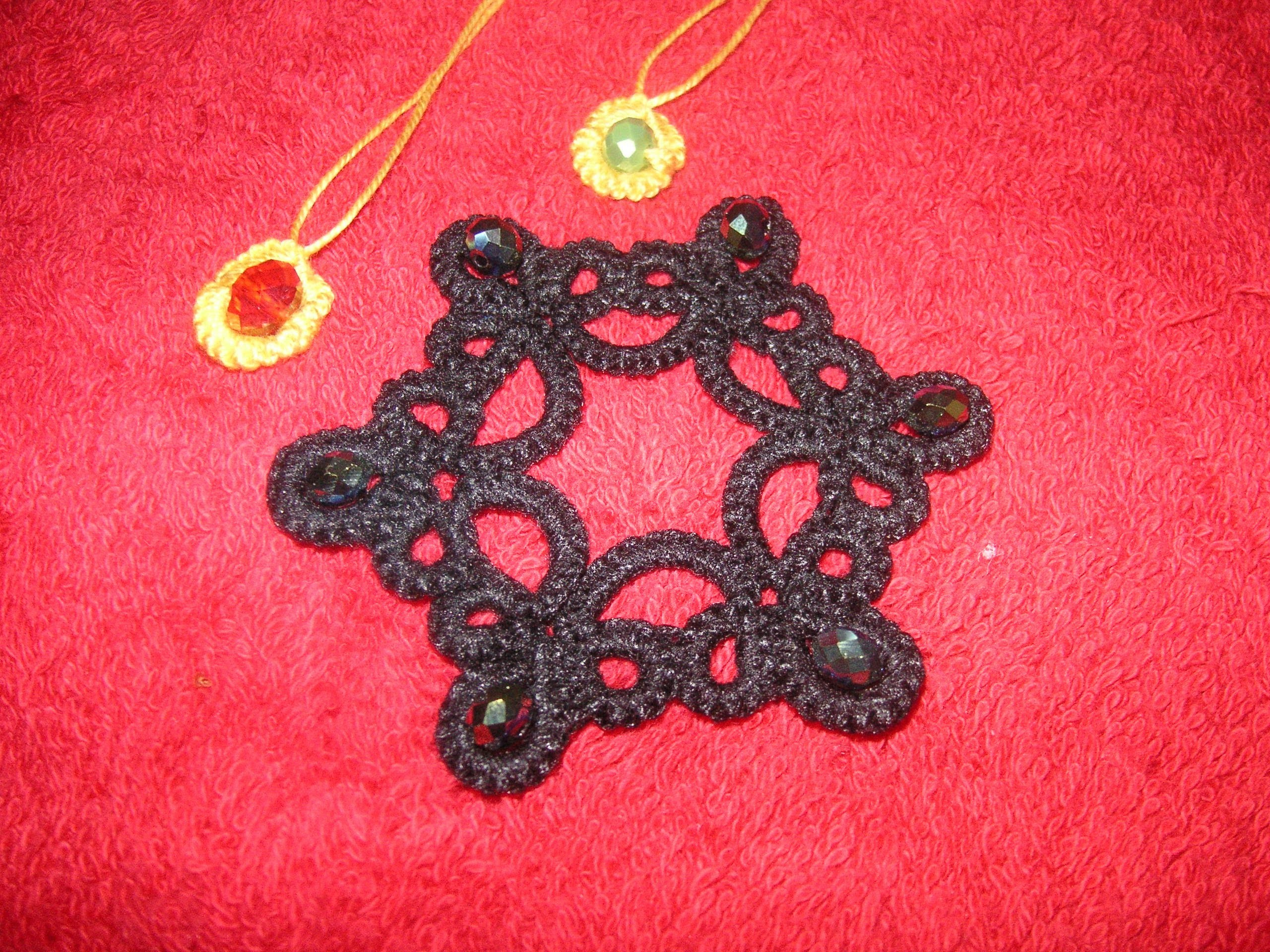 33' TUTORIAL CHIACCHIERINO AD AGO COME INSERIRE PERLE NEEDLE TATTING HOW INSERT BEADS
