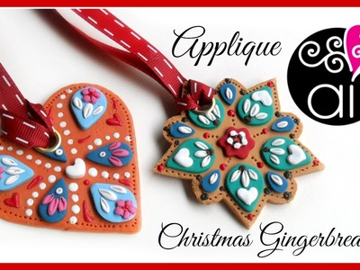 DIY Christmas Decorations | Applique Technique | Polymer Clay Tutorial | Decorazioni di Natale