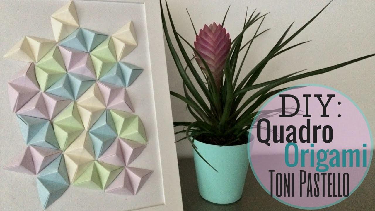 DIY:Quadro Origami Toni Pastello | NurseLinda87