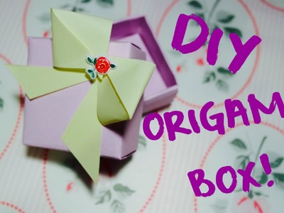 DIY Tutorial : Easy Origami Box!  + Vincitori del Giveaway!