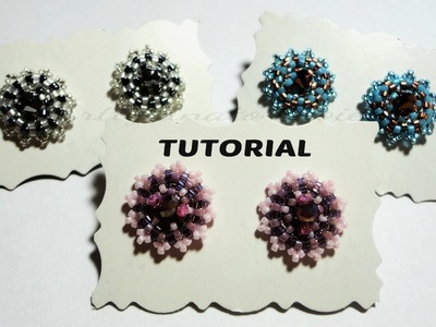 "DIY Video Tutorial Orecchini ""Punto Luce"" perline swarovski (beadwork)"