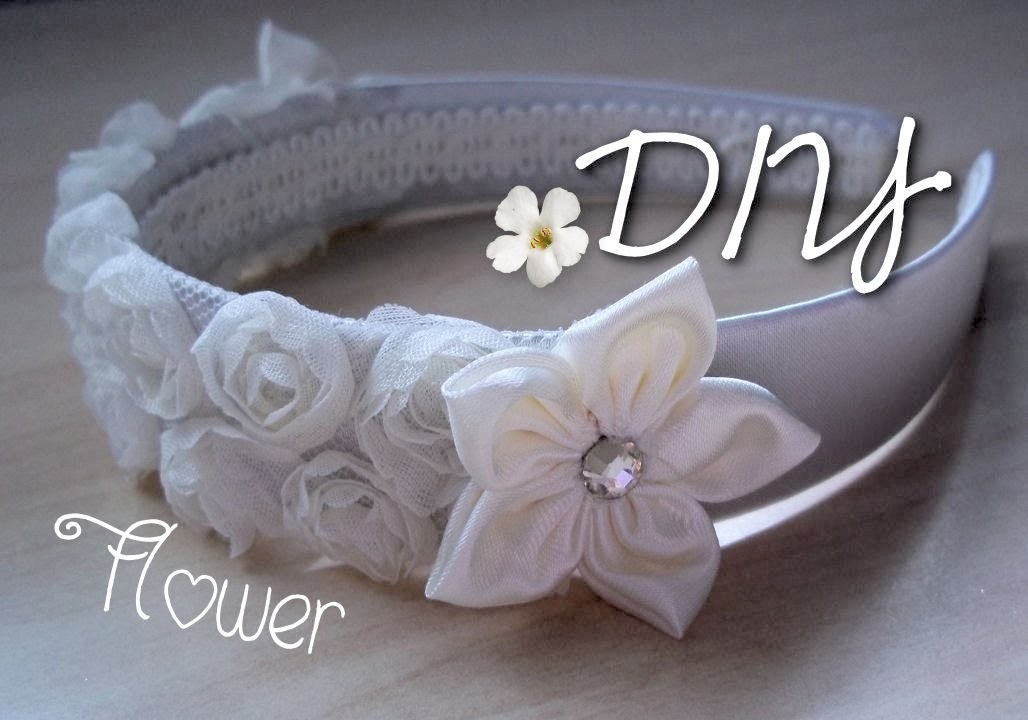 DIY Wedding: Fabric Floral Hairband   ✂   Tutorial: Fiorellini in Stoffa per Cerchietto Speciale