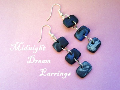 """""""Fast and Easy"""" # 3 - Midnight Dream Earrings (Polymer Clay Tutorial)"""