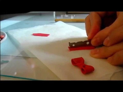 Fiocco - Fimo Tutorial. How to make a bow.ribbon in polymer clay