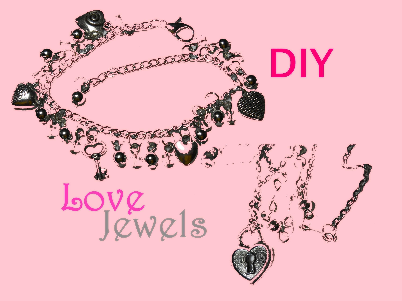 ♡ Love ♡ DIY Bracelet and Necklace ♥ Bracciale e Collana ❥ Jewelry Tutorial