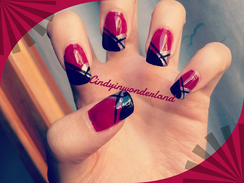 Nail art tutorial 80 - Strong deep red nails