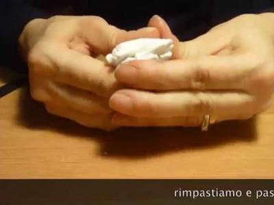 Polymer clay tutorial condizionare la pasta.condition clay