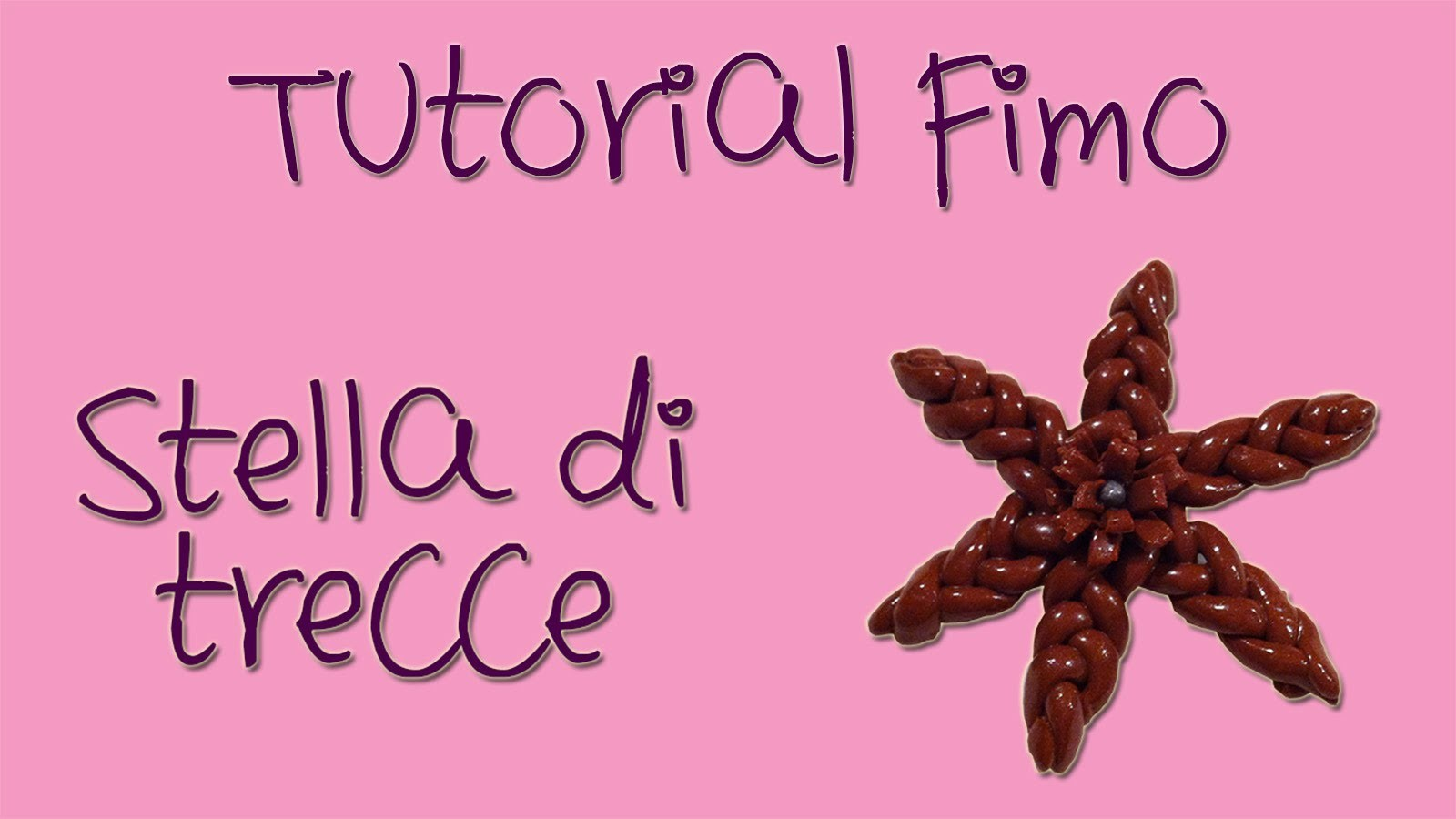 Polymer Clay tutorial: stella intrecciata in pasta polimerica marca Fimo. Tutorial Intermedio