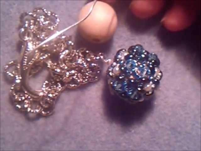 Risposta al tutorial: sfera rivestita con twin beads, perle e biconi swarovski di Cr3stina