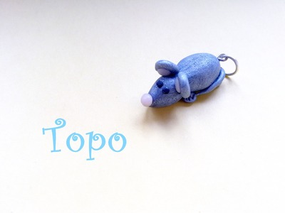 Topino: ciondolo in Fimo e Cernit (Mouse Charm) - Polymer Clay Tutorial  ^__^