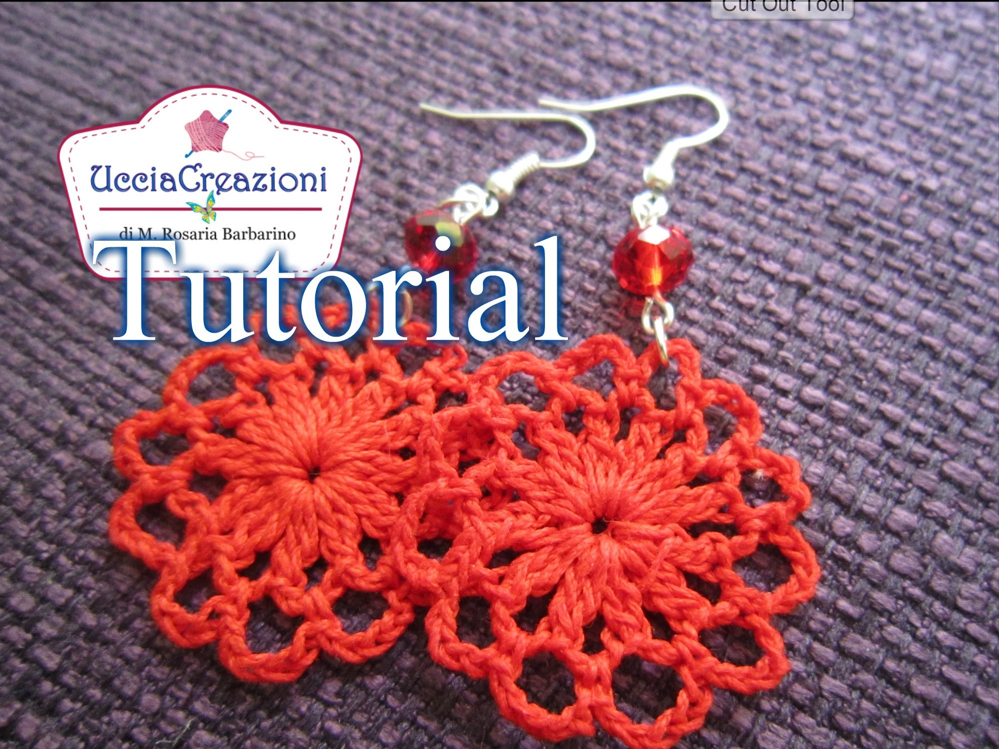 Tutorial 10 .Orecchini Facili all'uncinetto | Crochet Earrings