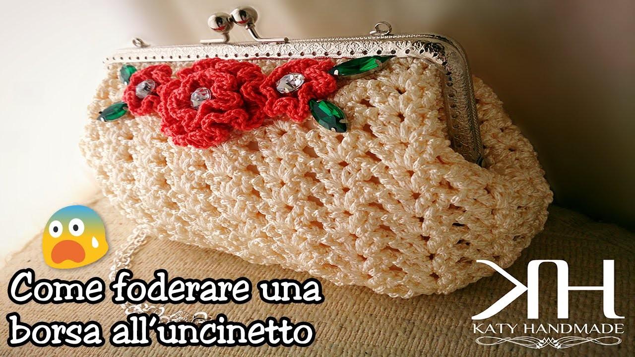 ❀ [Tutorial #6] Come foderare una borsa all'uncinetto || Line a crochet bag ❀