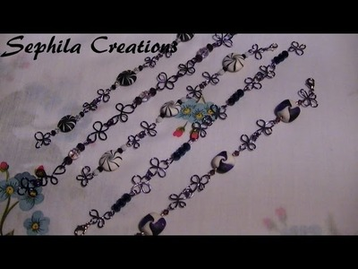 Tutorial: Bracciale wire con perle swirl (polymer clay tutorial)
