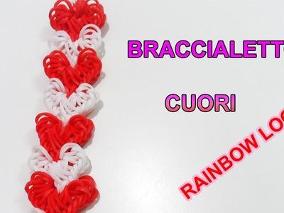 ♥ Tutorial Braccialetto Love Lock Con Elastici Rainbow Loom  ♥