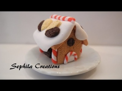 Tutorial: Casa di marzapane in pasta polimerica (gingerbread house in polymer clay) [sub-eng]