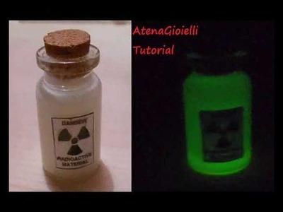 Tutorial ciondolo fluorescente radioattivo.  (tutorial polymer clay)
