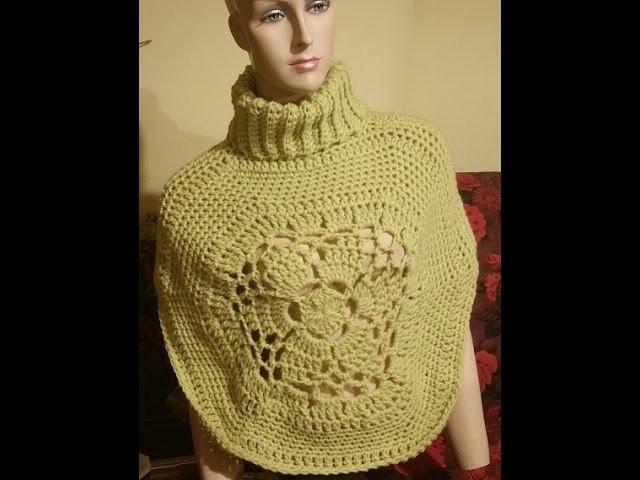 Tutorial coprispalle all'uncinetto- capa crochet - shawl crochet