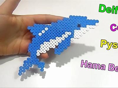 "♥Tutorial Delfino In Pyssla ""Hama Beads""Dolphin Charm ♥"