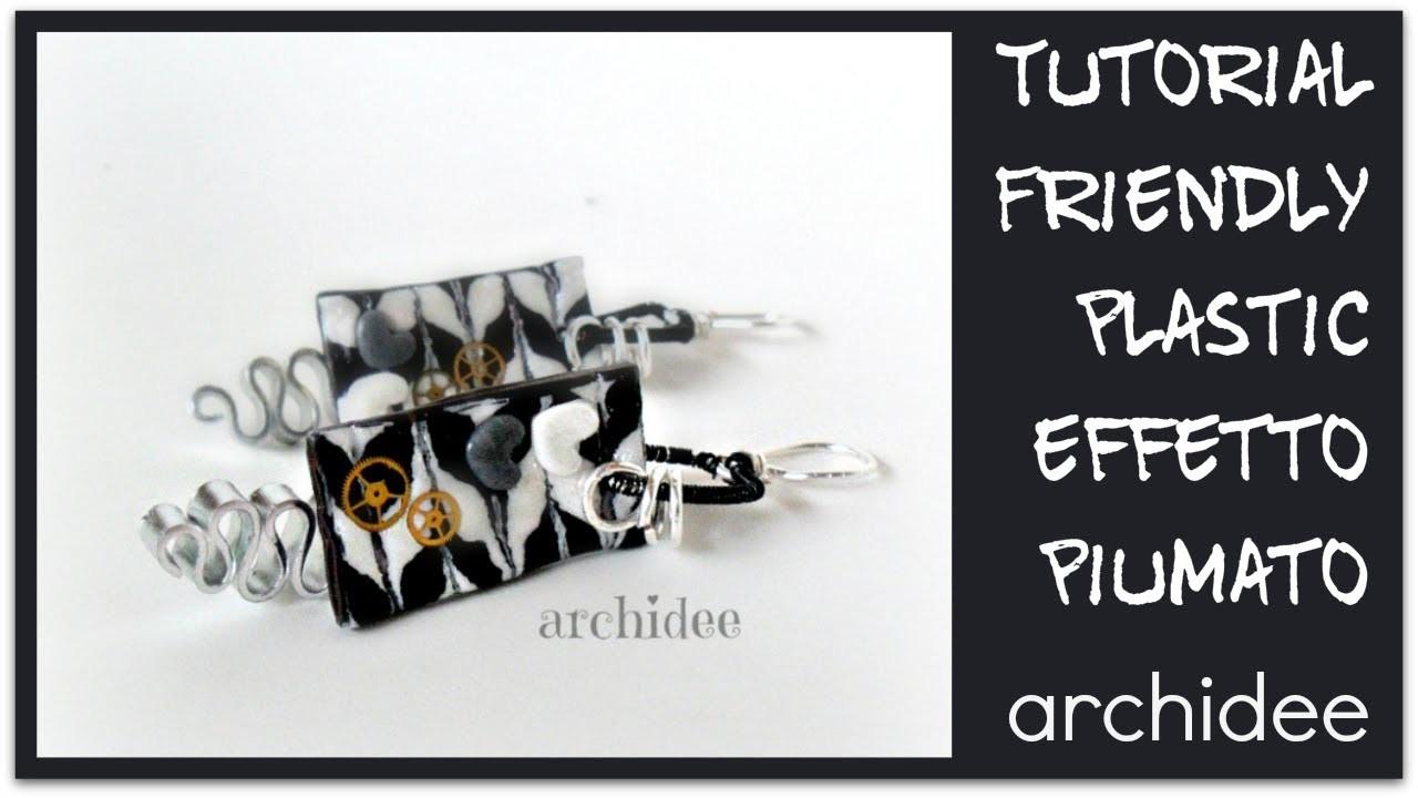 Tutorial   Friendly Plastic   Black & White Piumato   in collaborazione con Perles&Co.