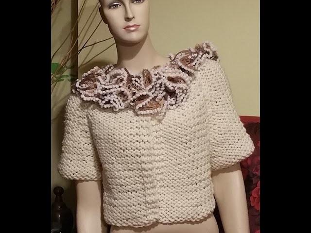 Tutorial giacca cardigan ai ferri - knitting jacket cardigan -  chaqueta de tejer a dos agujas
