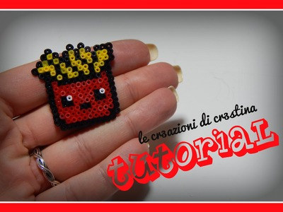 Tutorial Patatine Fritte Kawaii Mc Donald's con Hama Beads - www.perlinedastirare.it