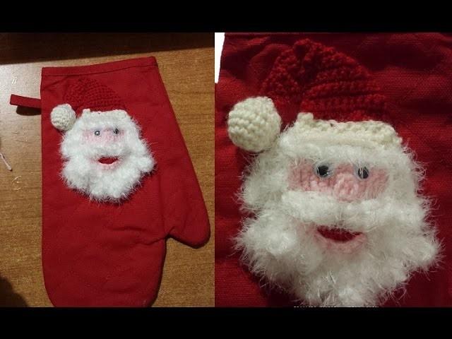 Tutorial presina all'uncinetto natalizia - agarradera de ganchillo - crochet pot holder