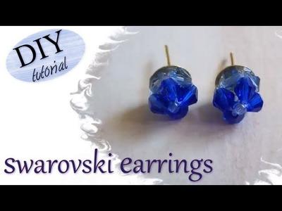 Tutorial: Realizzare in modo semplice orecchini a perno eleganti con fiori in swarovski blu oceano