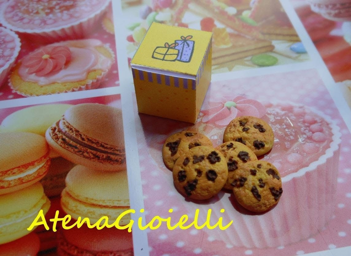 Tutorial scatola e biscottini al cioccolato (polymer clay tutorial)
